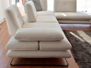 Γωνιακό σαλόνι με ρυθμιζόμενο βάθος